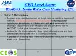 geo level status wa 06 05 in situ water cycle monitoring 2 3