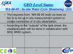 geo level status wa 06 05 in situ water cycle monitoring 3 3