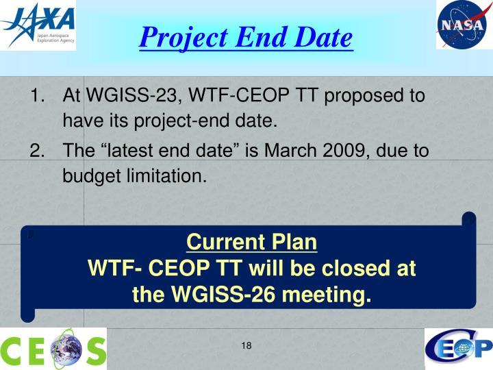 Project End Date