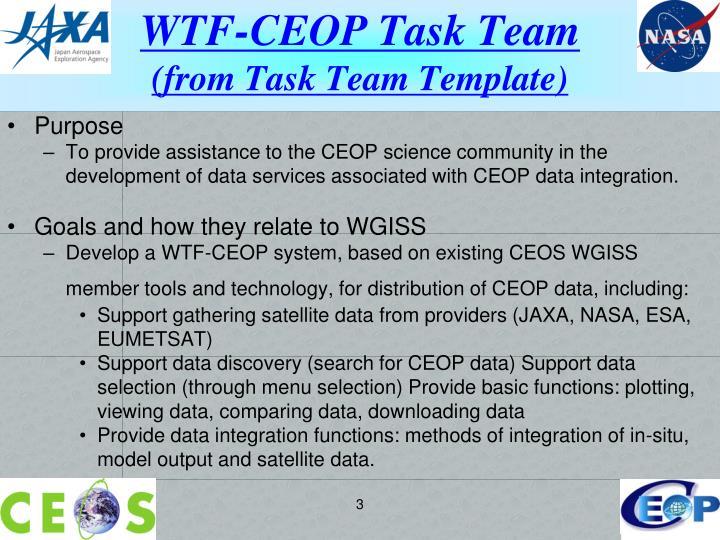 WTF-CEOP Task Team