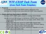 wtf ceop task team from task team template