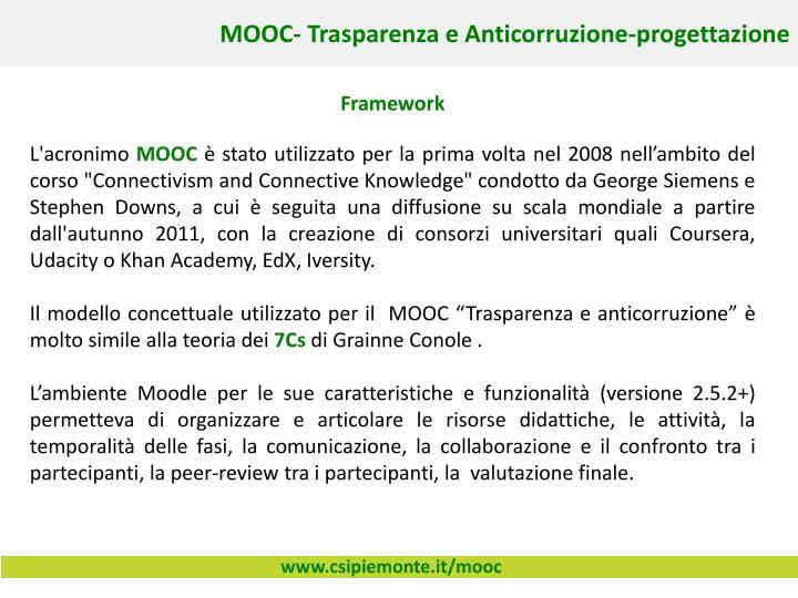 MOOC- Trasparenza e