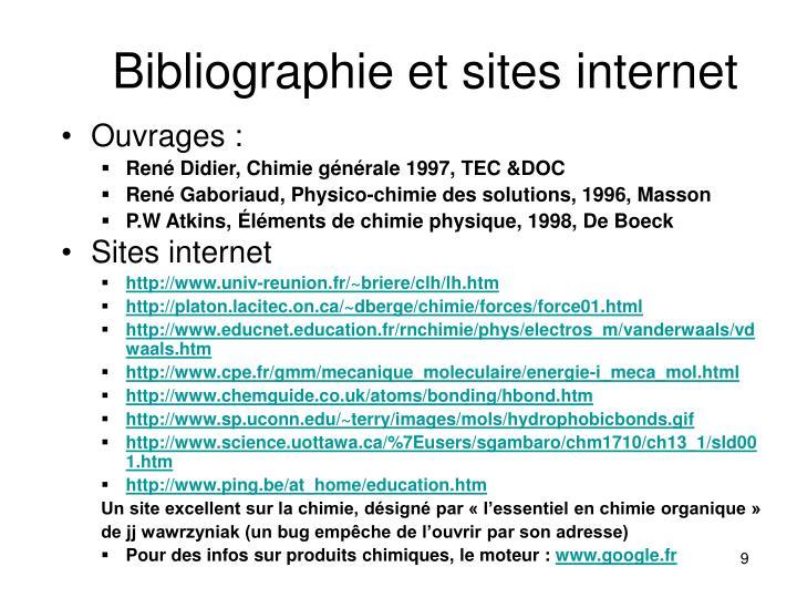 Bibliographie et sites internet