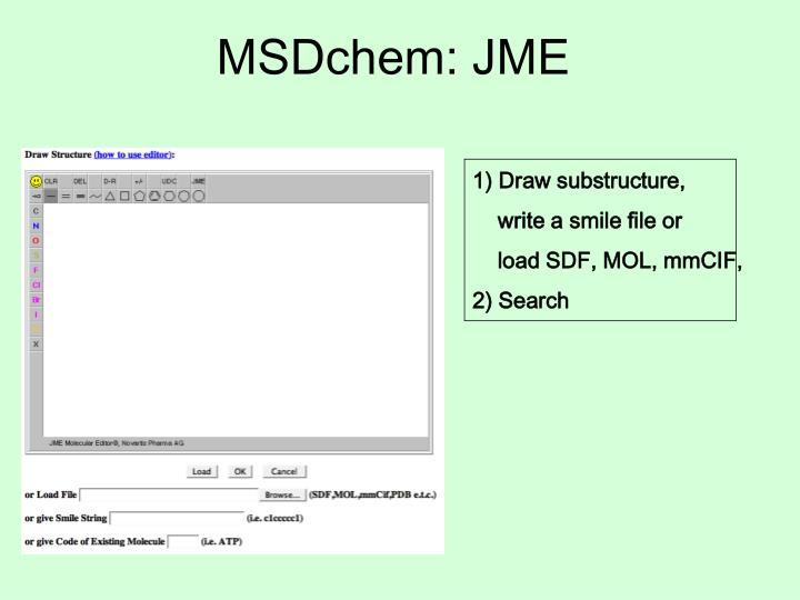 MSDchem: JME