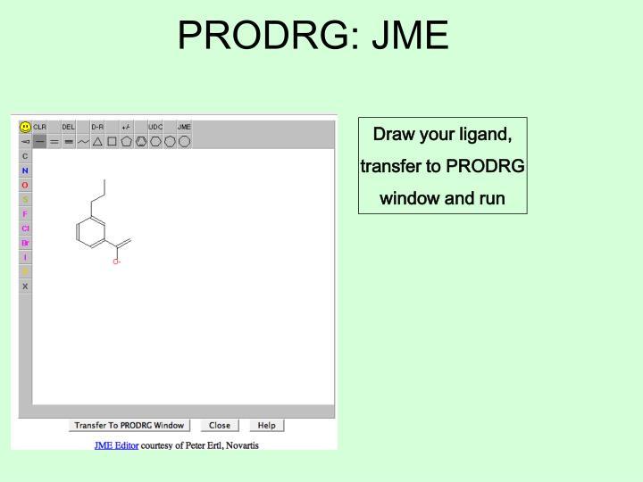 PRODRG: JME