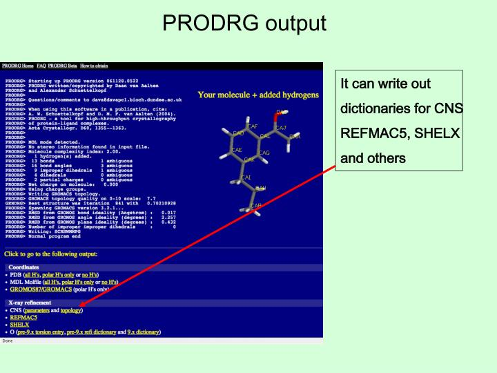 PRODRG output