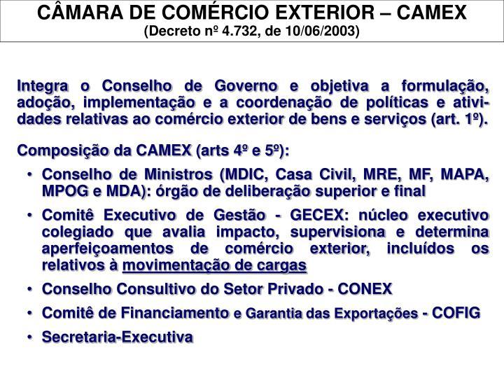 CÂMARA DE COMÉRCIO EXTERIOR – CAMEX