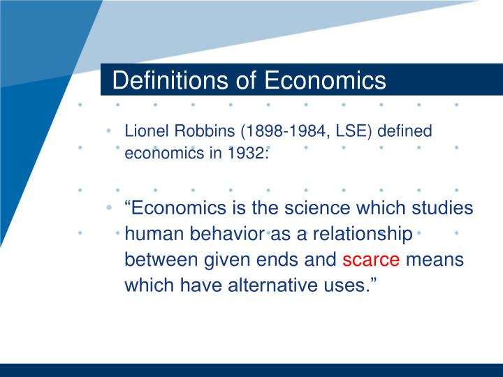 Definitions of Economics