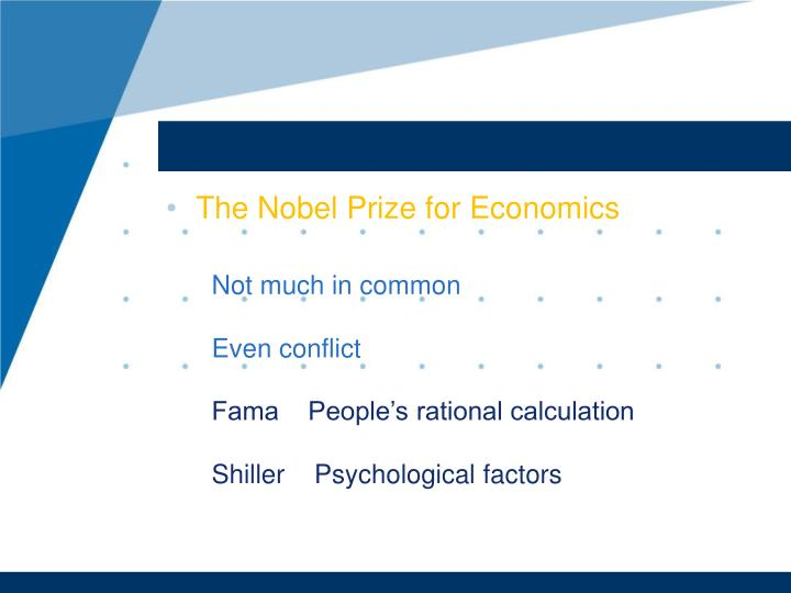 The Nobel Prize for Economics
