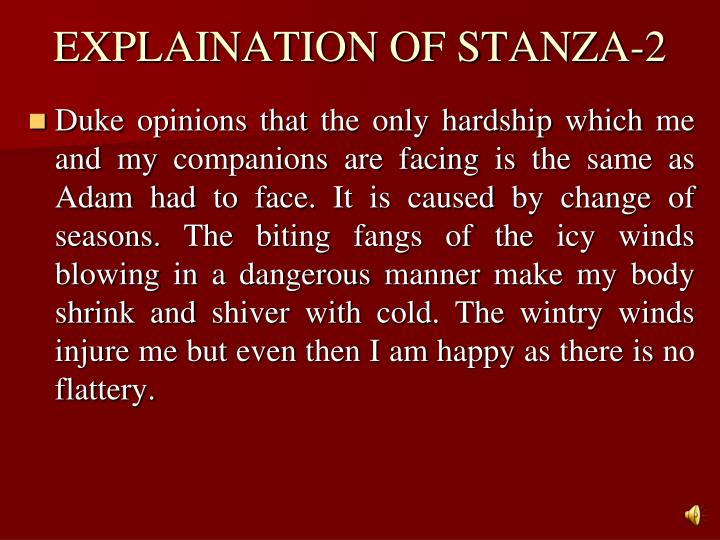 EXPLAINATION OF STANZA-2
