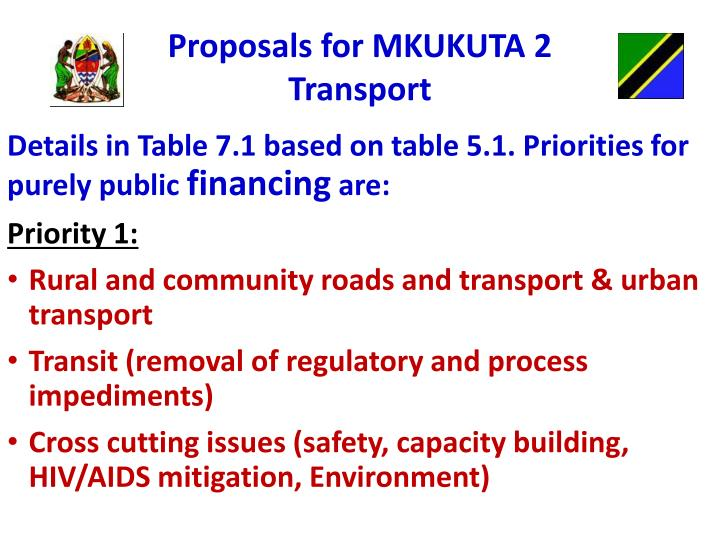 Proposals for MKUKUTA 2
