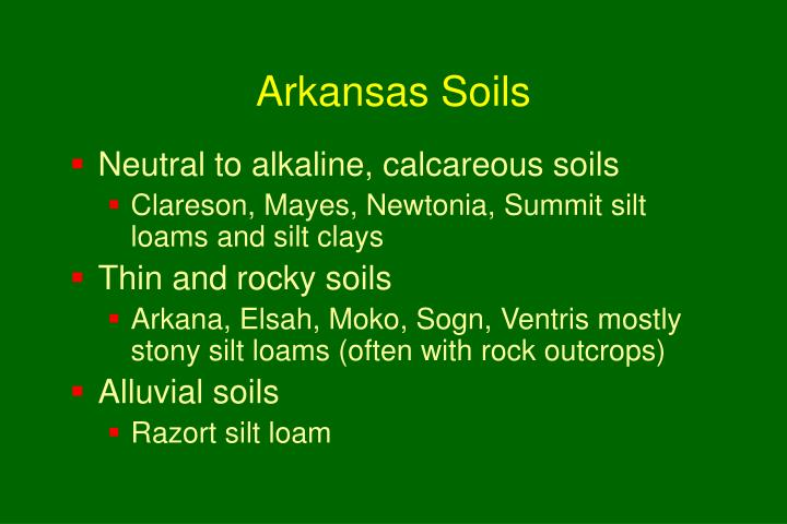 Arkansas Soils