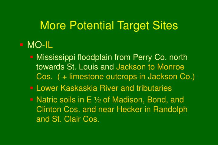 More Potential Target Sites