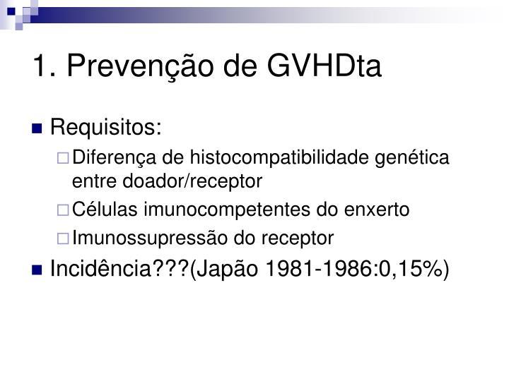 1. Prevenção de GVHDta