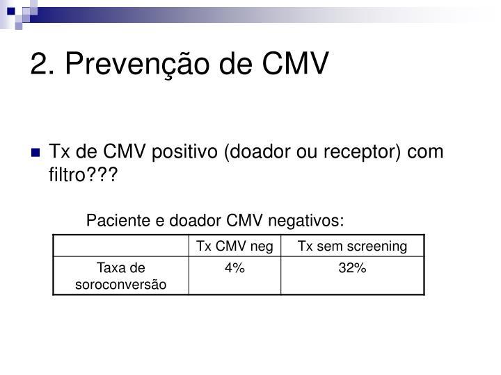 2. Prevenção de CMV