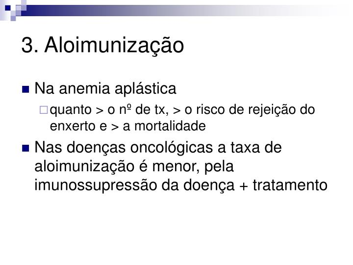 3. Aloimunização