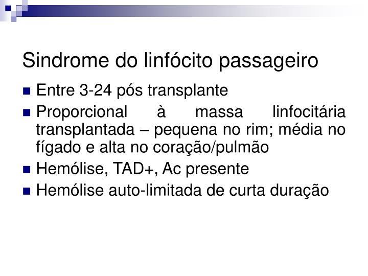 Sindrome do linfócito passageiro