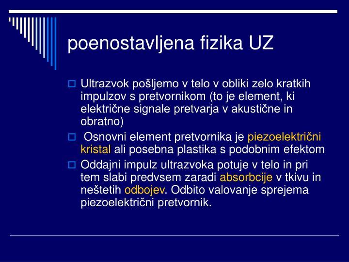 poenostavljena fizika UZ