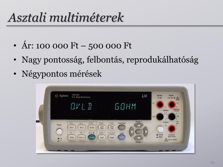 Asztali multiméterek