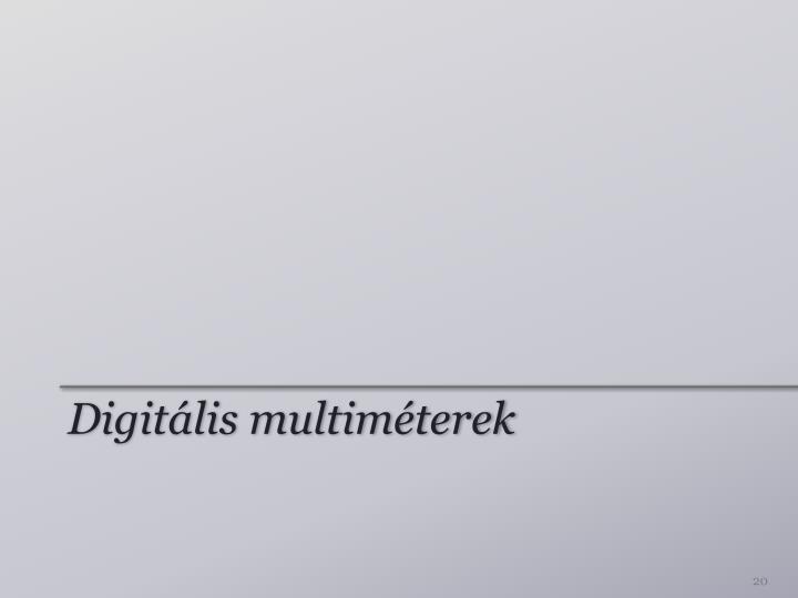 Digitális multiméterek