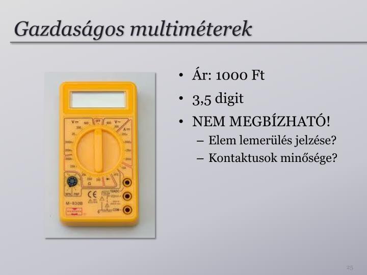 Gazdaságos multiméterek