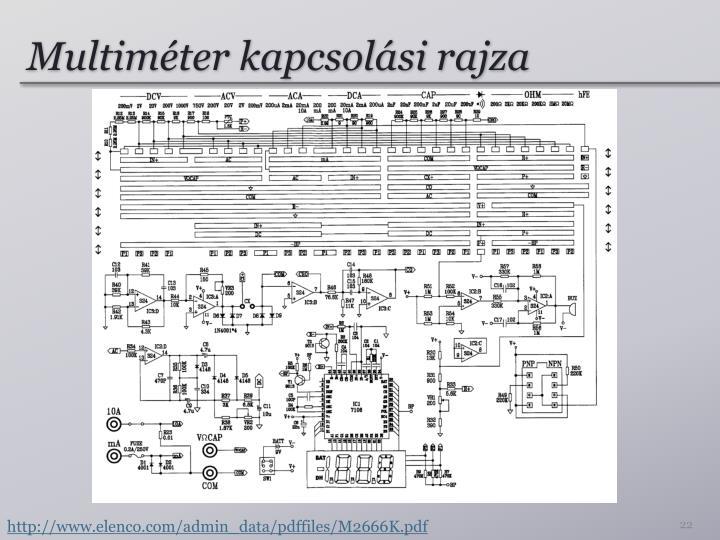 Multiméter kapcsolási rajza