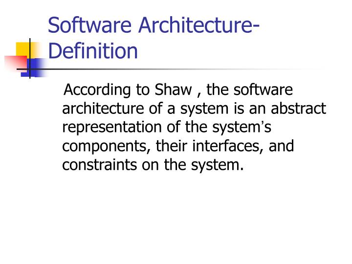 Ppt architecture description languages powerpoint for Anarchitecture definition