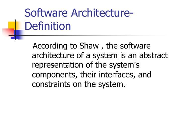 Ppt architecture description languages powerpoint for Definition architecture
