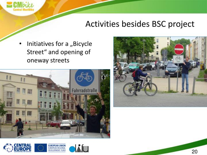 "Initiatives for a ""Bicycle Street"" and opening of oneway streets"
