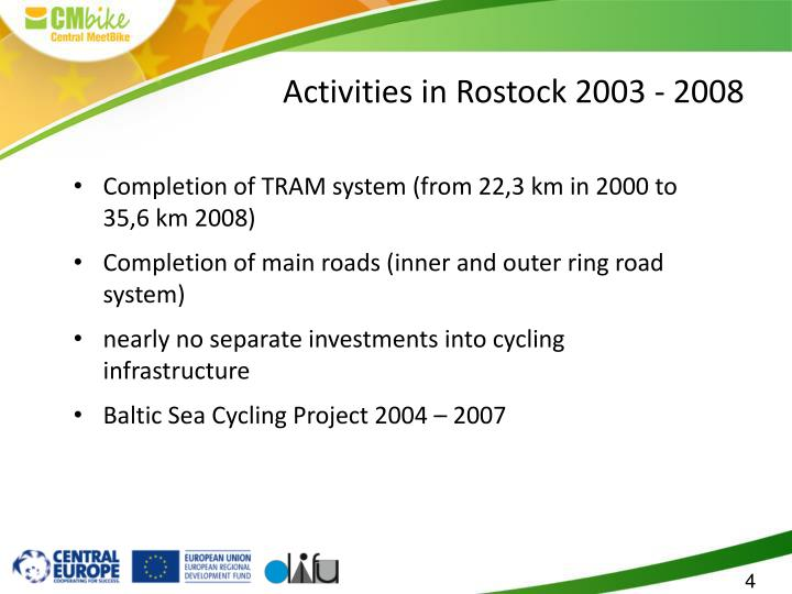 Activities in Rostock 2003 - 2008