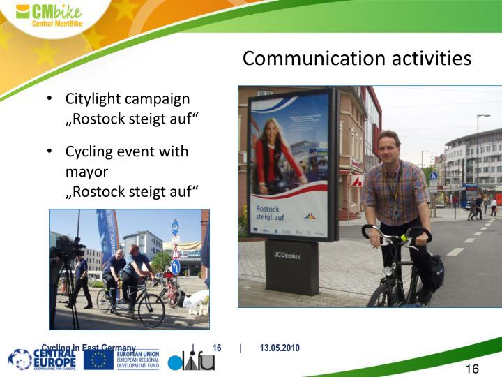 "Citylight campaign ""Rostock steigt auf"""