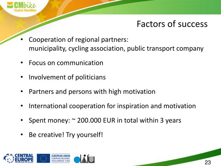 Cooperation of regional partners: