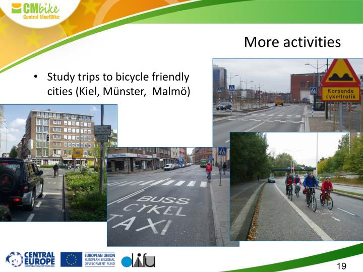 Study trips to bicycle friendly cities (Kiel, Münster,  Malmö)