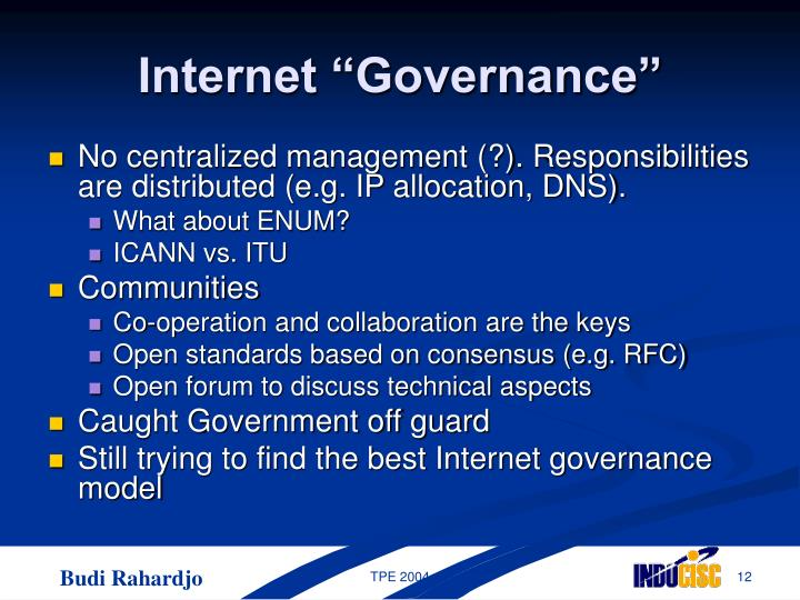 "Internet ""Governance"""