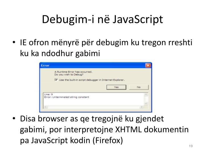 Debugim-i në JavaScript