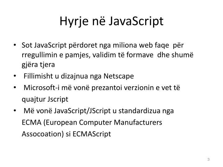 Hyrje në JavaScript
