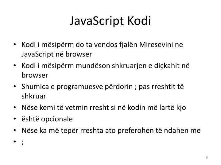 JavaScript Kodi