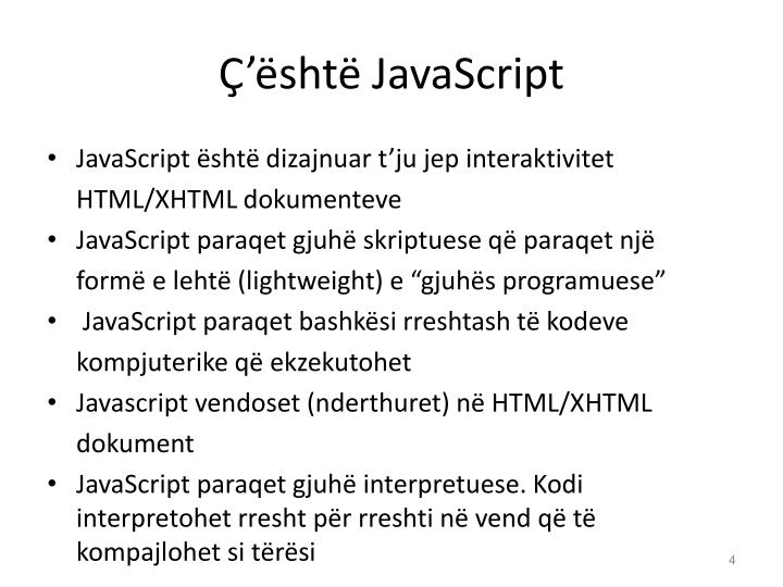 Ç'është JavaScript