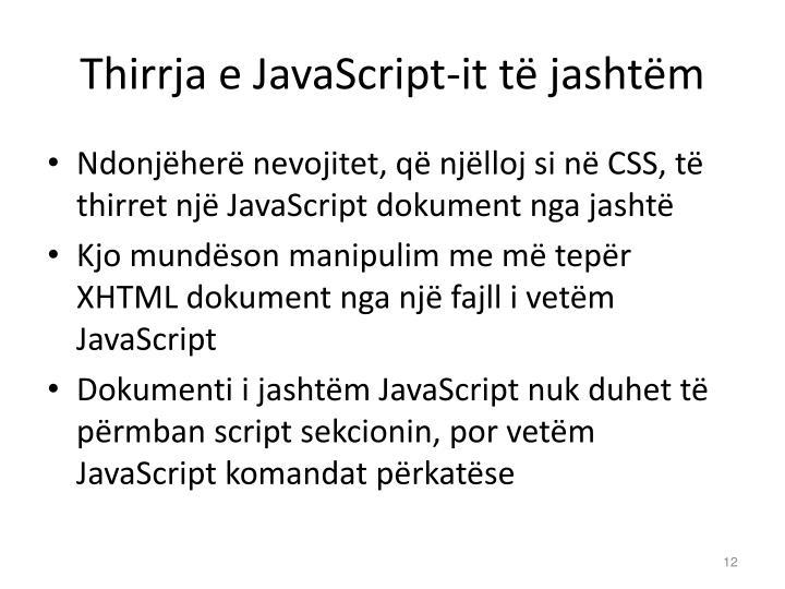 Thirrja e JavaScript-it të jashtëm