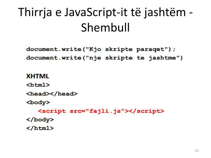 Thirrja e JavaScript-it të jashtëm - Shembull