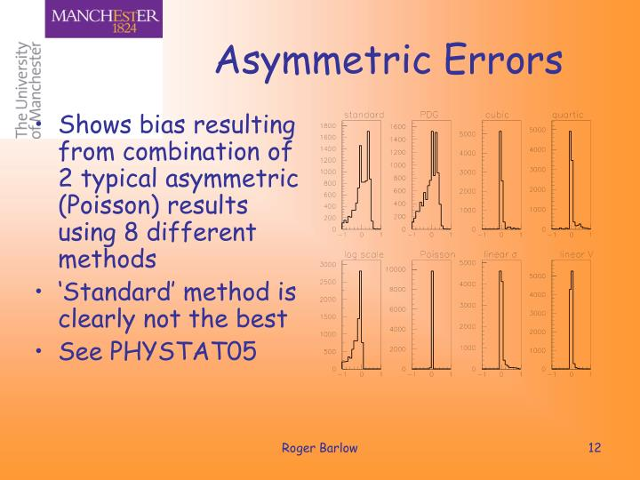 Asymmetric Errors