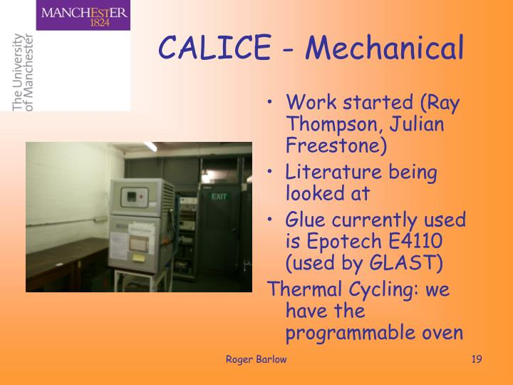 CALICE - Mechanical