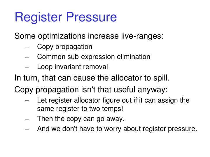 Register Pressure