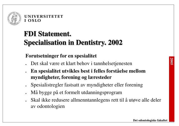 FDI Statement.