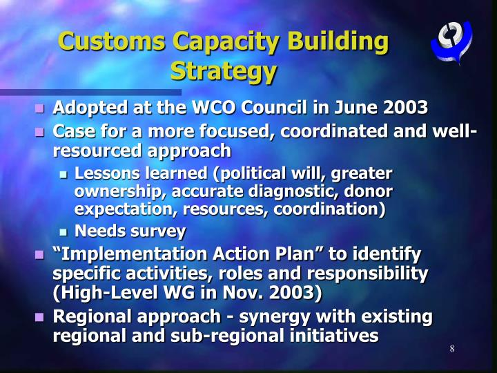 Customs Capacity Building Strategy