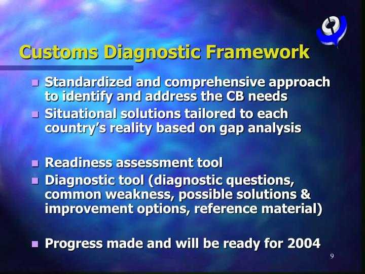 Customs Diagnostic Framework