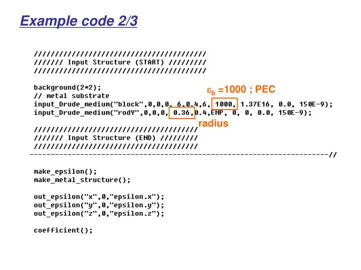 Example code 2/3