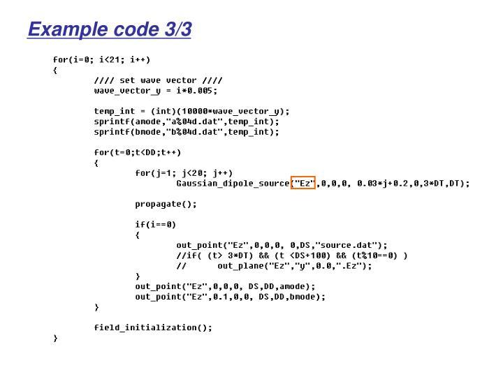 Example code 3/3