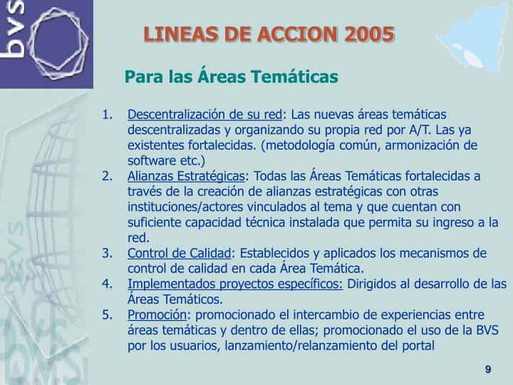 LINEAS DE ACCION 2005