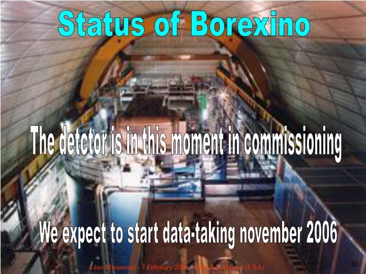 Status of Borexino